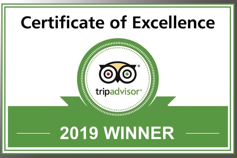 Trip Advisor certfivate of Excellence 2019