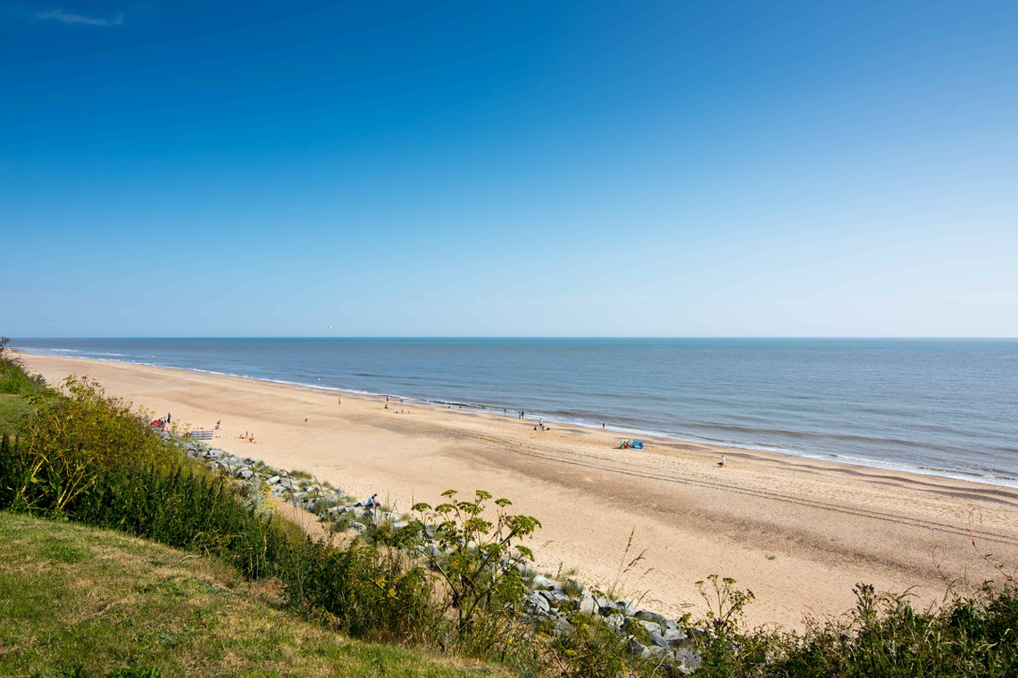 Beachside Holidays in Norfolk sandy beach